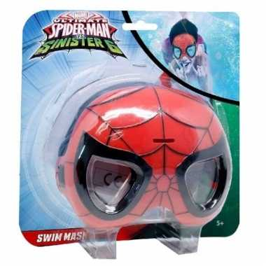 Zwemmasker/duikbril spiderman voor kinderen