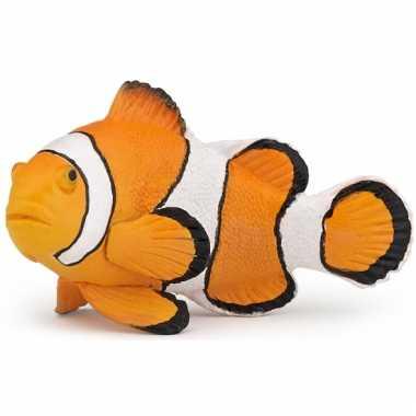 Zwemmende clown vis oranje 6 cm