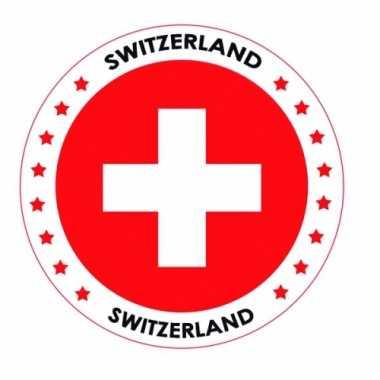 Zwitserland vlag print bierviltjes