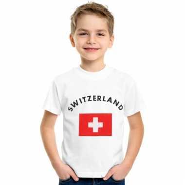 Zwitsers vlaggen t-shirts voor kinderen