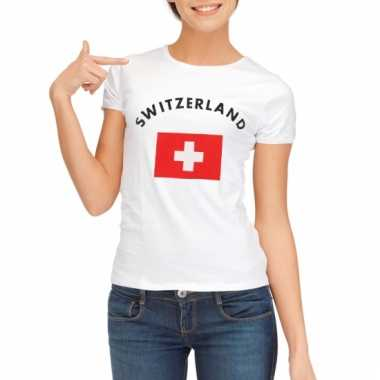 Zwitserse vlaggen t-shirt voor dames