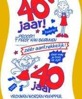 40 jaar wc papier voor vrouw