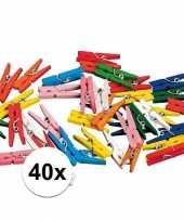 40x knijpertjes in verschillende kleuren