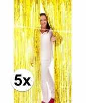 5 gouden folie gordijnen