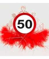 50 jaar geworden feest tiara