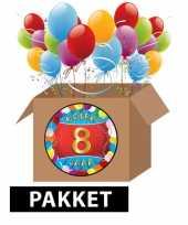 8 jaar party artikelen pakket