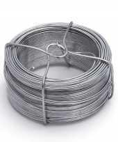 Afgeprijsde 1 rolletje ijzerdraad binddraad binddraden staal verzinkt 1 5 mm x 50 m