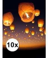 Afgeprijsde 10 grote witte wensballonnen 50 x 100 cm