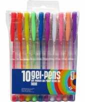 Afgeprijsde 10 stuks neon gekleurde gelpennen