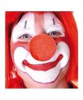 Afgeprijsde 100x rode opzet clownsneus foam