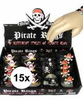 Afgeprijsde 15x uitdeel cadeau kinderfeestje piraten armbandje