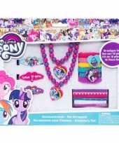 Afgeprijsde 18x my little pony elastiekjes armbanden kettingen voor meisjes