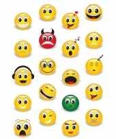 Afgeprijsde 20x emoji stickertjes voor kinderen