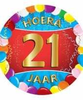Afgeprijsde 21 jaar verjaardag party viltjes