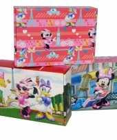Afgeprijsde 3x kinderkamer opbergbox opbergdoos set disney minnie katrien