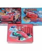 Afgeprijsde 3x kinderkamer rode blauwe opbergbox opbergdoos set disney cars