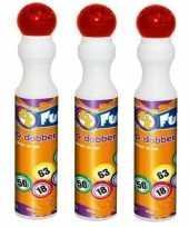 Afgeprijsde 3x ronde rode stippen stift voor bingo 43 ml