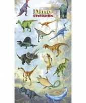 Afgeprijsde 3x vellen dinosaurus kinder stickertjes