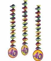 Afgeprijsde 40 jaar decoratie spiralen 3x