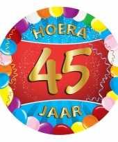 Afgeprijsde 45 jaar verjaardag party viltjes