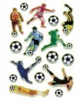 Afgeprijsde 48x voetbal stickertjes voor kinderen