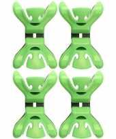 Afgeprijsde 4x kerstkaarten geboortekaartjes ophangen klemmen groen zonder plakband spijkers schroev