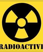 Afgeprijsde 5 halloween versiering radioactief gevaren stickers 10 5
