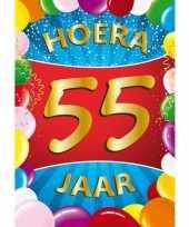 Afgeprijsde 55 jaar thema mega deurposter