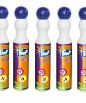 Afgeprijsde 5x ronde blauwe stift marker voor bingo 43 ml
