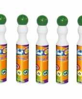 Afgeprijsde 5x ronde groene stift marker voor bingo 43 ml