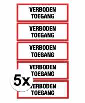Afgeprijsde 5x verkeersbord stickers verboden toegang