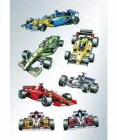 Afgeprijsde 63x raceauto stickertjes voor kinderen