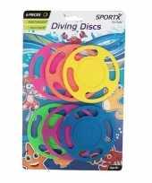 Afgeprijsde 6x gekleurde duikringen duikspeelgoed