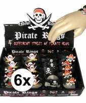 Afgeprijsde 6x uitdeel cadeau kinderfeestje piraten armbandje