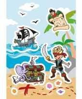 Afgeprijsde 72x piraat stickertjes voor kinderen