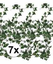 Afgeprijsde 7x groene klimop slinger 180 cm kunstplant