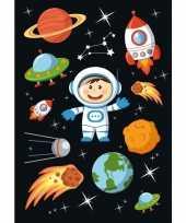 Afgeprijsde 90x astronaut stickertjes voor kinderen