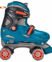 Afgeprijsde blauwe verstelbare skates voor kinderen maat 30 33