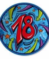 Afgeprijsde borden 18 jaar 33 cm blauw
