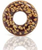 Afgeprijsde bruine ronde donut zwemband 114 cm