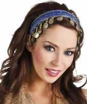 Afgeprijsde carnaval esmeralda buikdanseres hoofdband kobalt blauw voor dames
