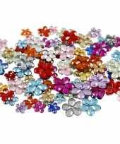 Afgeprijsde decoratie plak diamantjes bloemen 504x stuks