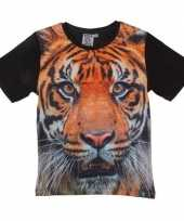 Afgeprijsde dieren shirts met fotoprint van tijger voor kinderen