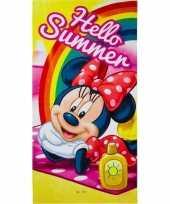 Afgeprijsde disney minnie mouse summer badlaken strandlaken 70 x 140 cm
