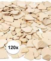 Afgeprijsde diy houten hartjes 120 stuks