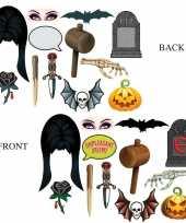 Afgeprijsde dubbelzijde foto booth props halloween