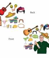 Afgeprijsde dubbelzijde foto booth props mexicaans feest