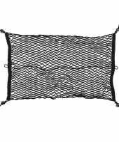 Afgeprijsde elastische bagagenet voor kofferbak 80 x 50 cm
