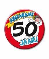 Afgeprijsde extra grote button 50 jaar abraham stopbord 10 cm