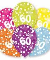 Afgeprijsde feestartikelen ballonnen 60 jaar 6 st